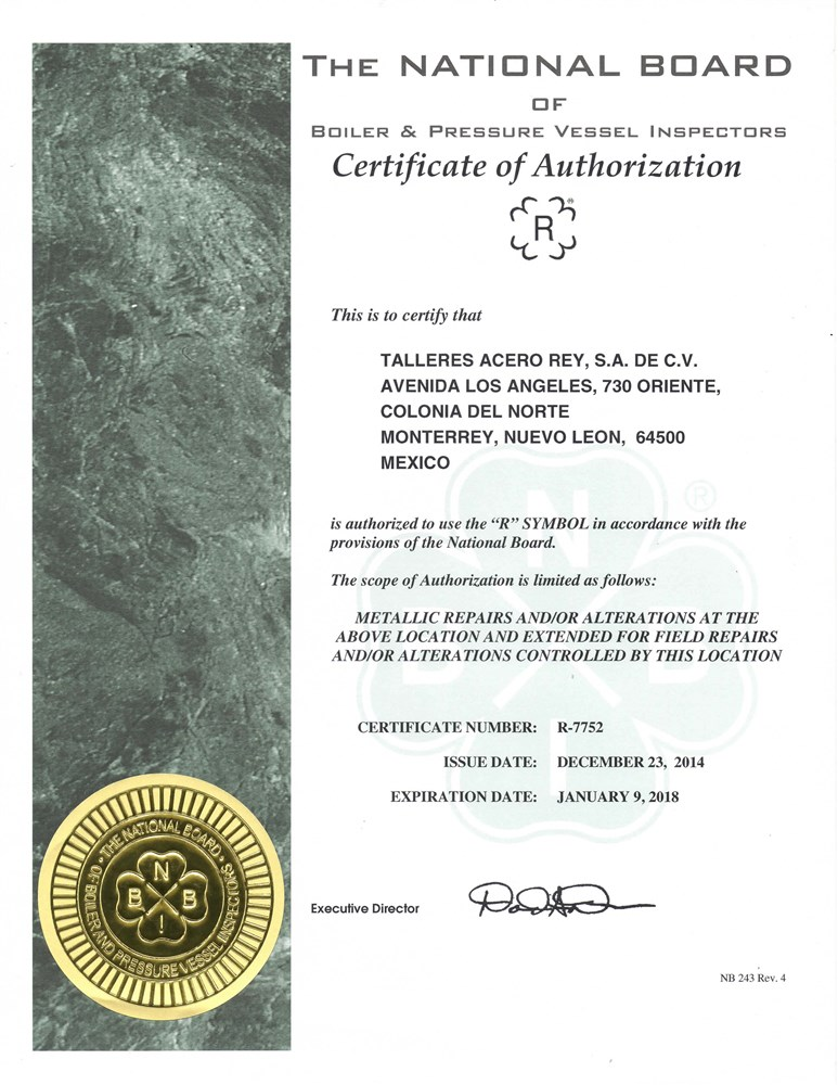 Certificacion ASME Estampa R - Audit ASME-2014